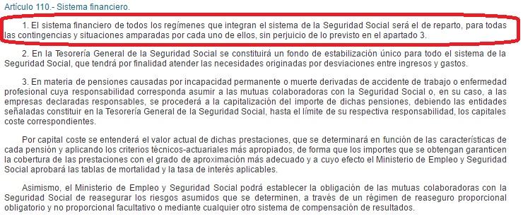 110 ley general seguridad social