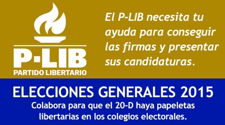 Con tu firma puedes ayudar al P-LIB a presentarse a las próximas elecciones