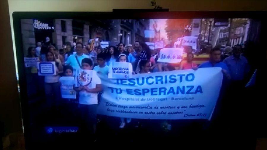 La ARD alemana se inventa una manifestación de musulmanes en Barcelona